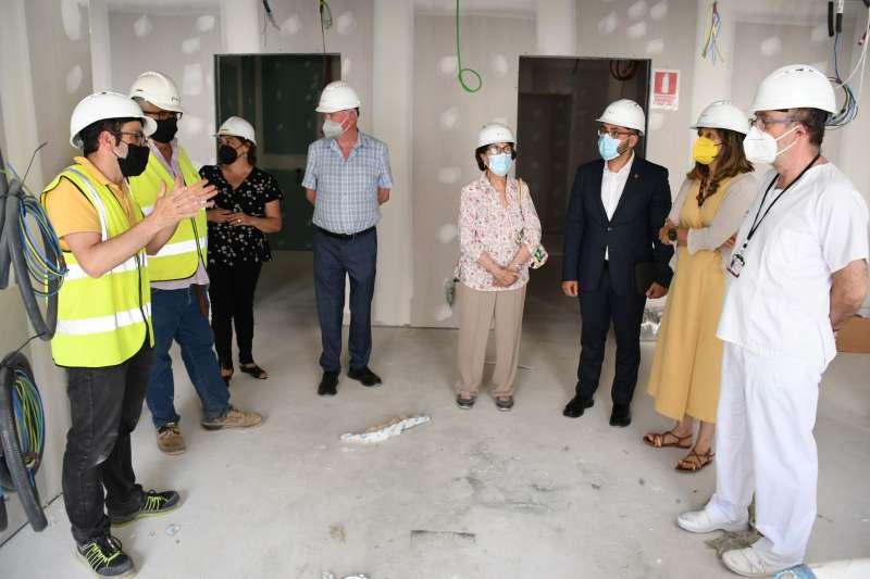 Visita a les obres del Hospital La Plana/EPDA