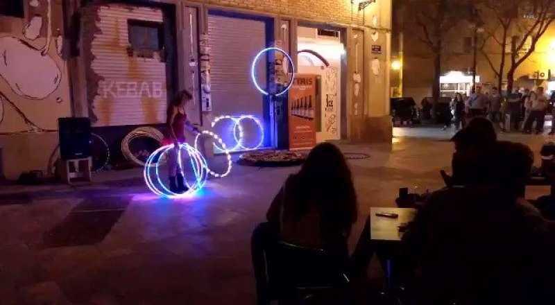 Actuación durante el festival Russafa out. FOTO ARCHIVO
