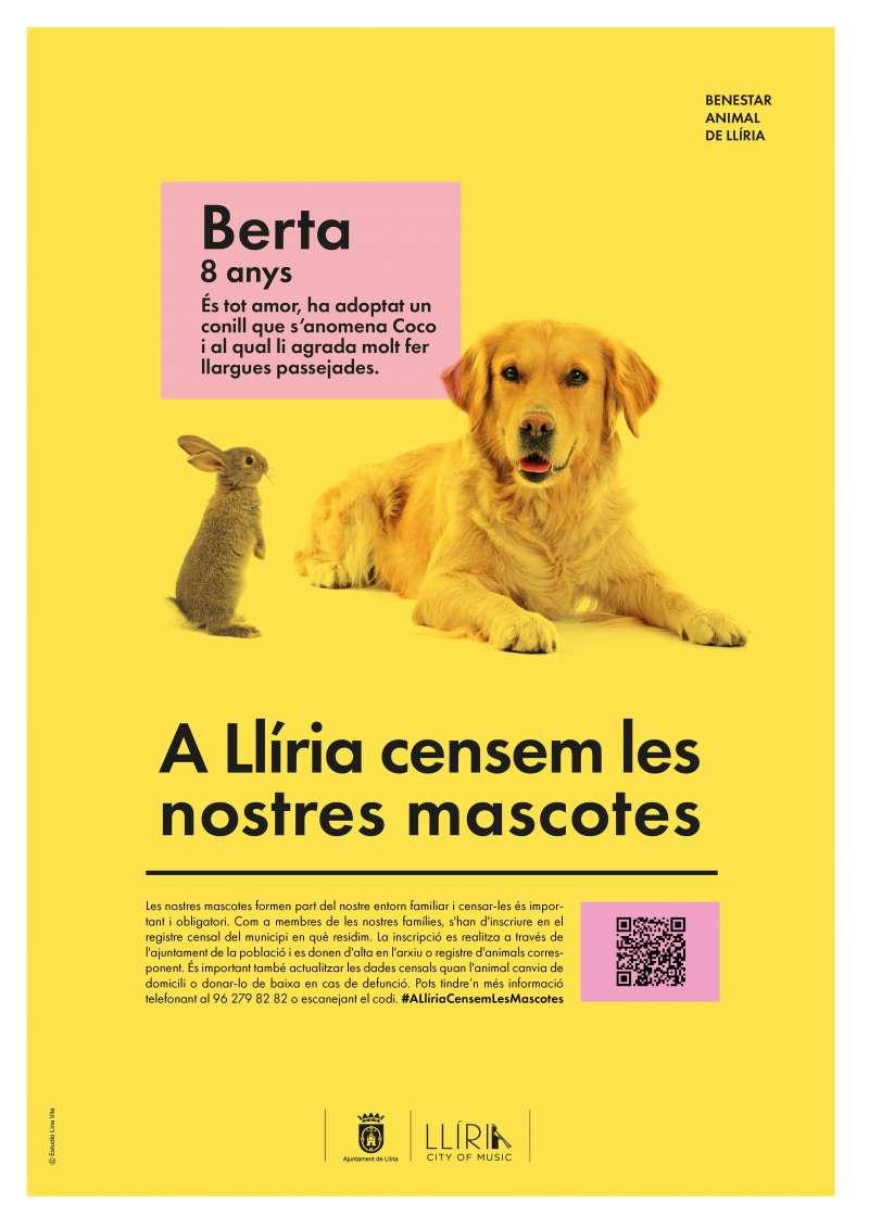 Cartel de Llíria sobre el censo. EPDA.