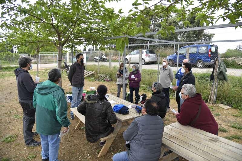 Uno de los talleres de dinamización y gestión de huertos urbanos celebrado en Paiporta.