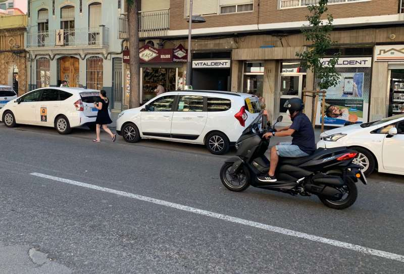 Una moto por Catarroja. FOTO AYTO CATARROJA