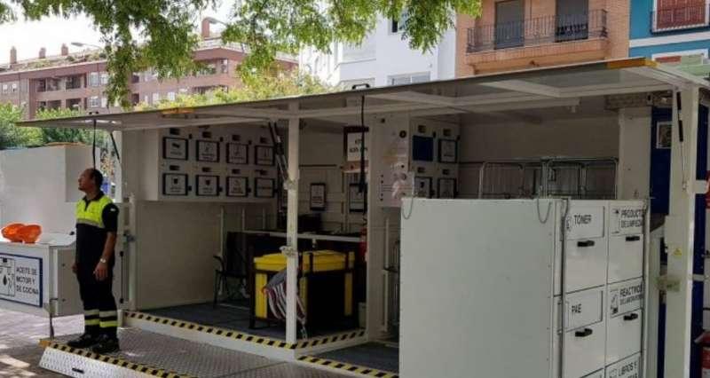 Ecoparc móvil en Aldaia. / EPDA