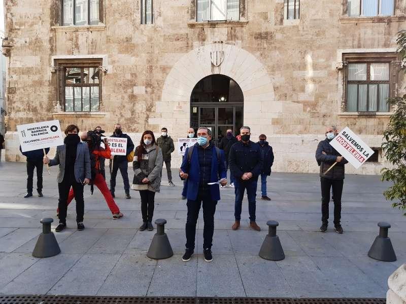 Protesta reciente ante el Palau de la Generalitat.