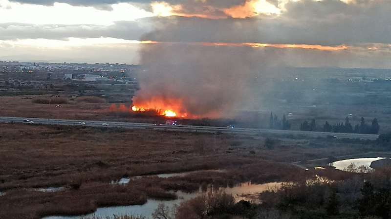 Incendio en la CV-21