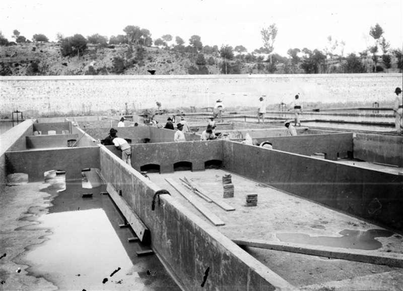Una imagen de la construcción de la presa facilitada por la Emshi. EFE