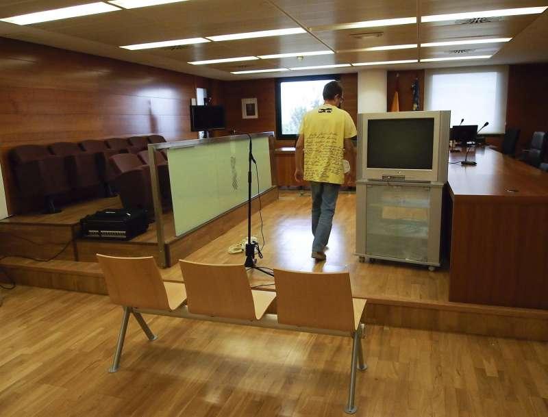 Sala de juicios de la Audiencia Provincial de Castellón.