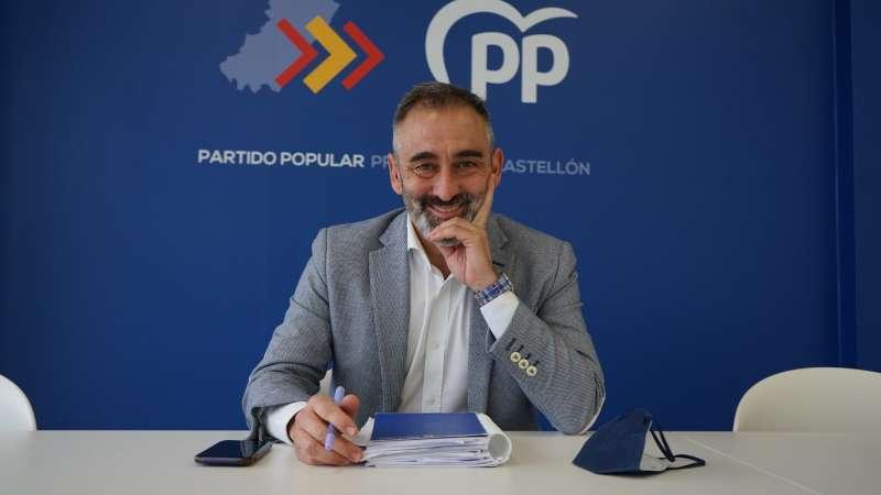 Miguel Barrachina en la sede nueva