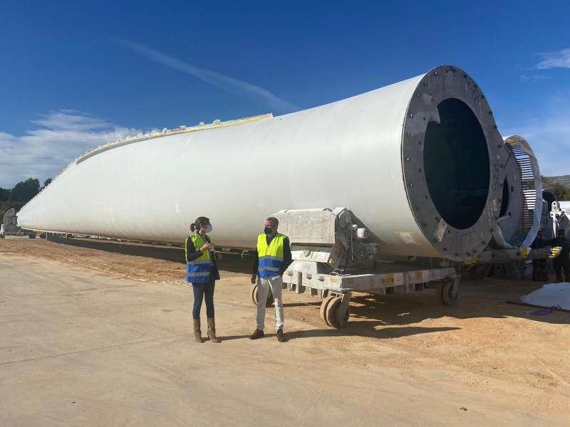 Visita a la fabrica de palas eolicas