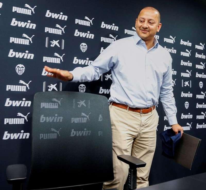El presidente del Valencia, Anil Murthy. EFE/Miguel Ángel Polo/Archivo