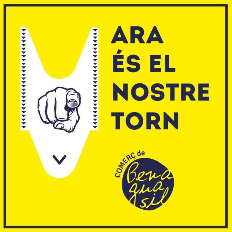 Cartel de promoción del comercio local. / EPDA