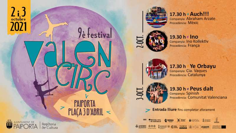 Cartell del Festival Valencirc a Paiporta.