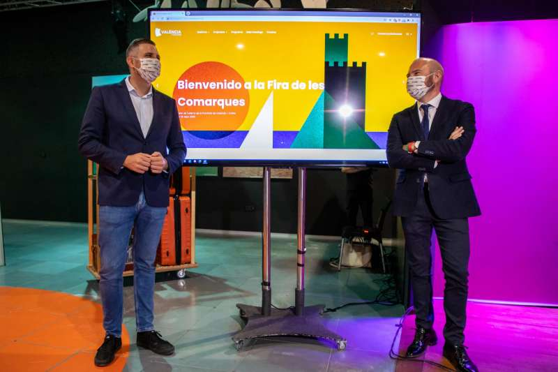 El presidente de la Diputación de València, Toni Gaspar, y el diputado de Turismo, Jordi Mayor