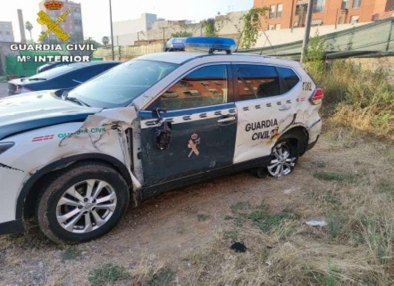 Estado del vehículo tras el impacto del camión