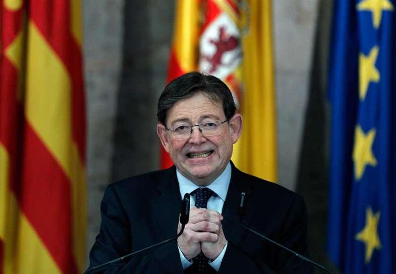 El president de la Generalitat, Ximo Puig, en una imagen de estos días. EFE/Manuel Bruque.