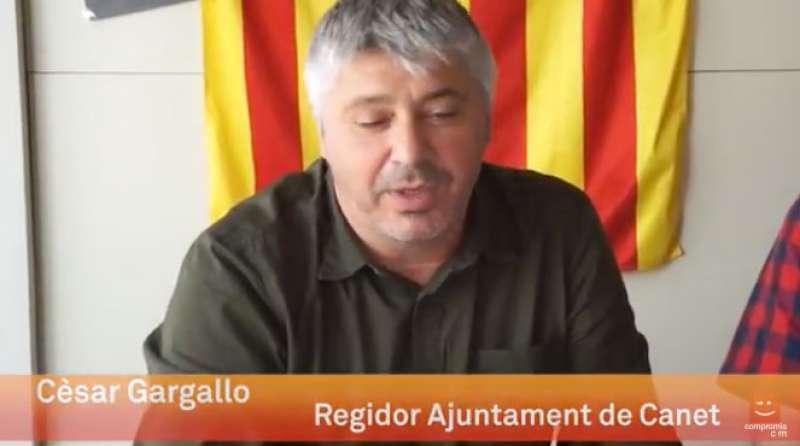 El concejal de Cultura y portavoz de Compromís en el Ayuntamiento de Canet, César Gargallo. EPDA