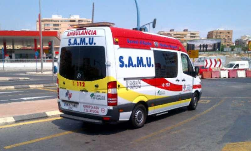 Una SAMU ha atendido a la mujer herida