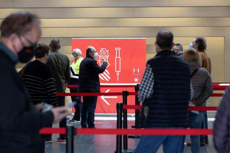El Auditori i Palau de Congressos de Castelló durante el proceso de vacunación.