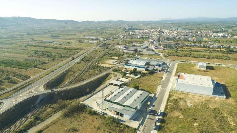Vista aérea polígono Alcalà-Alcossebre