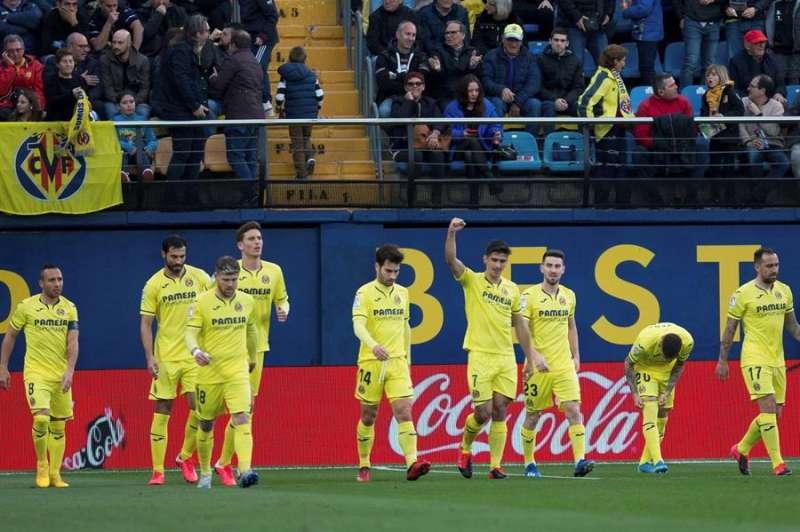 Los jugadores del Villarreal celebran un gol ante el Leganés. EFE/ Archivo.