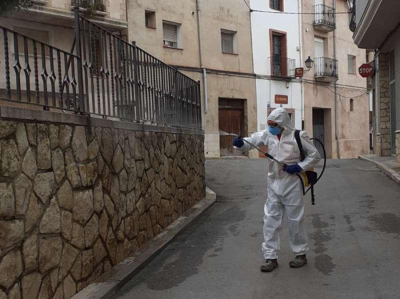 Desinfección de los espacios urbanos