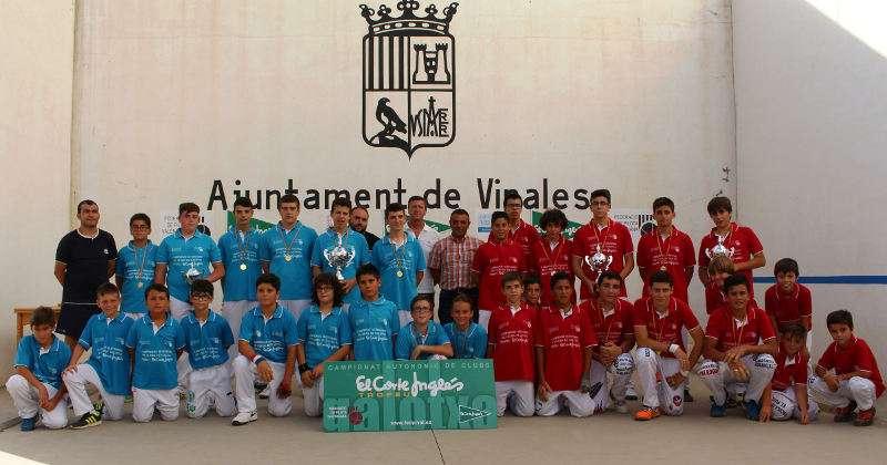 Tots els finalistes del Campionat Autonòmic de Galotxa, el diumenge en Vinalesa. EPDA