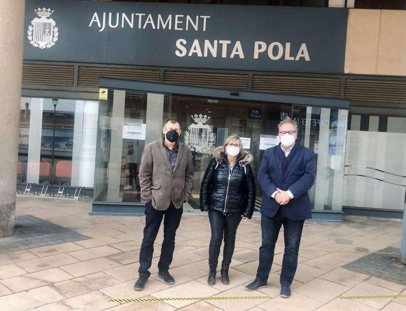 Loreto Serrano, Manuel Gomicia y José Pedro Martínez/EPDA