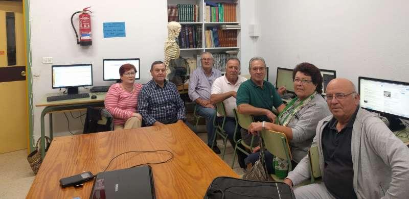 Mayores de Algímia en uno de los cursos. EPDA