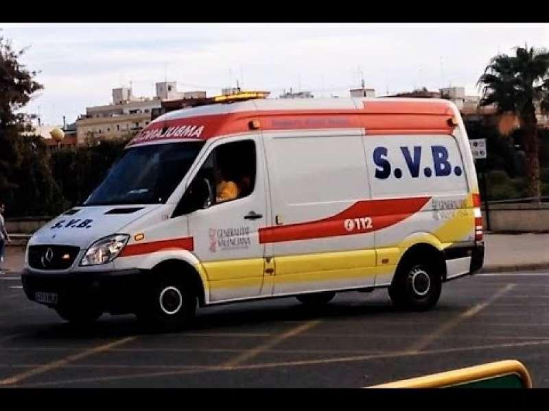 Imagen de archivo de una ambulancia de tipo SVB.
