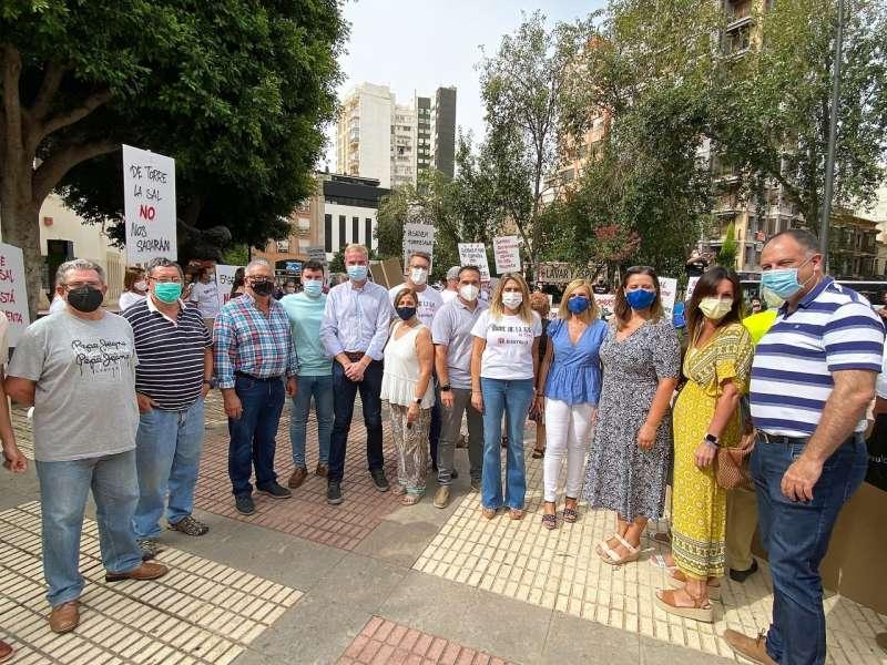 Protesta de vecinos de Torre la Sal