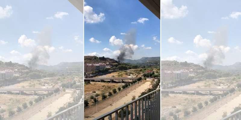 Incendio forestal en Sagunt
