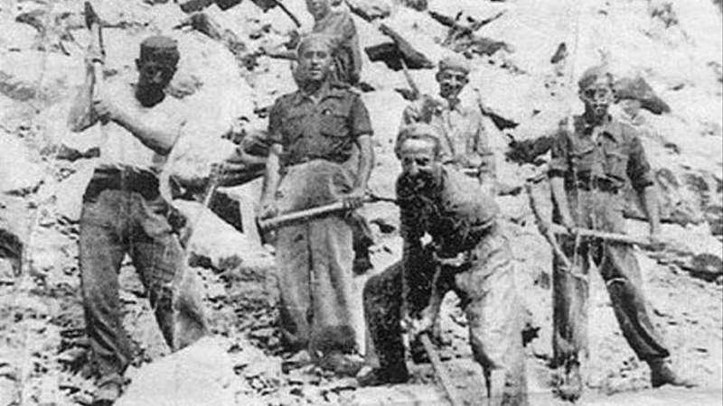 Trabajos forzados en una mina