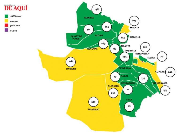 Mapa actualizado a 26 de febrero con datos del 24.