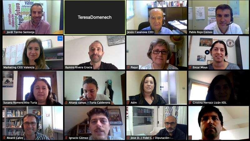 Vídeo conferencia de la reunión