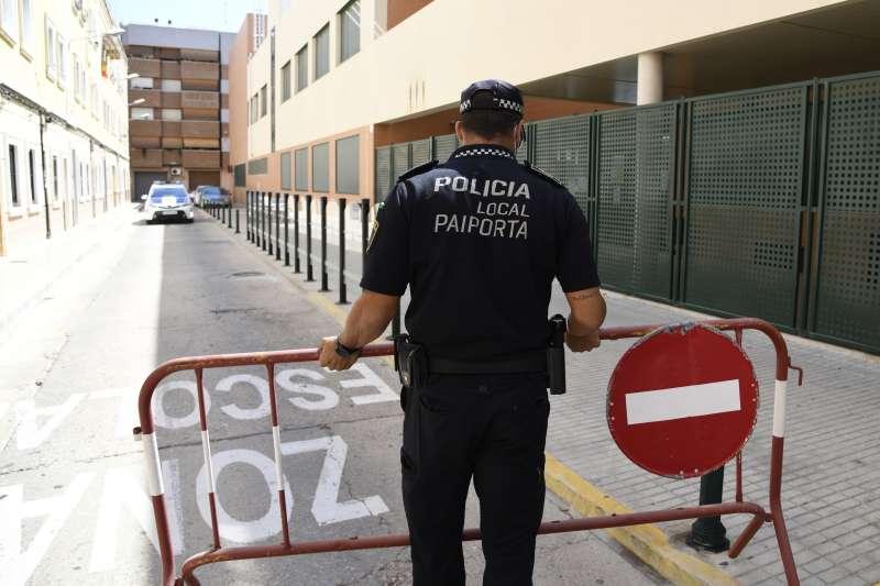 Agentes de la policía en Paiporta. EPDA