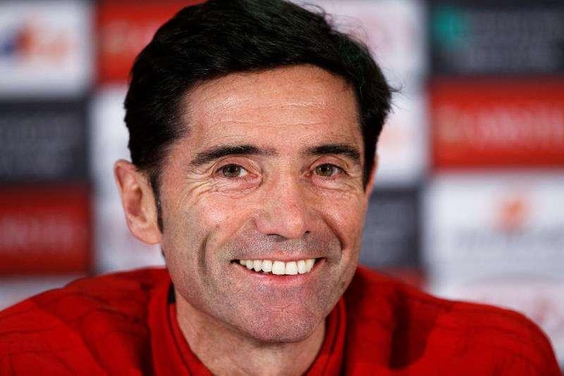 El entrenador del Valencia, Marcelino García Toral. EFE