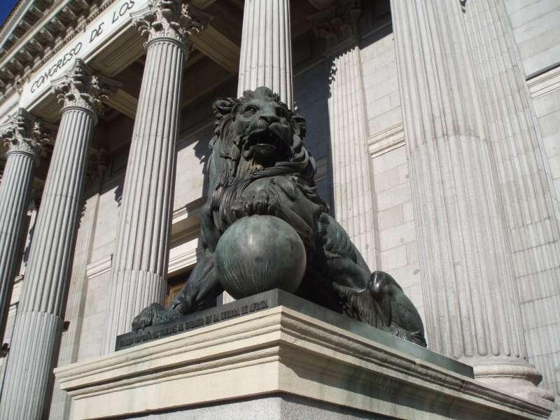 León del Congreso de los Diputados, en una imagen de archivo