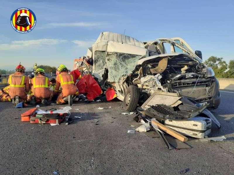 Foto accidente Bombers València