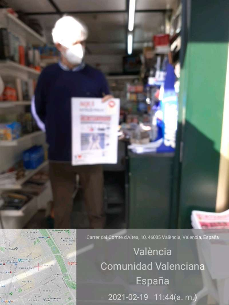 Quiosco de la la calle Comte Altea de Valencia