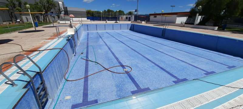 Acondicionamiento de la piscina. EPDA.