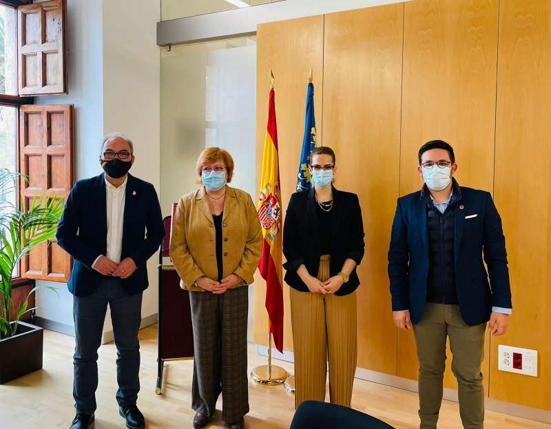 Reunión con la delegada del Gobierno. EPDA.