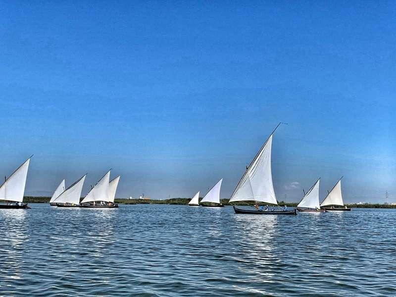Imagen de las embarcaciones durante la competición pasada. EPDA