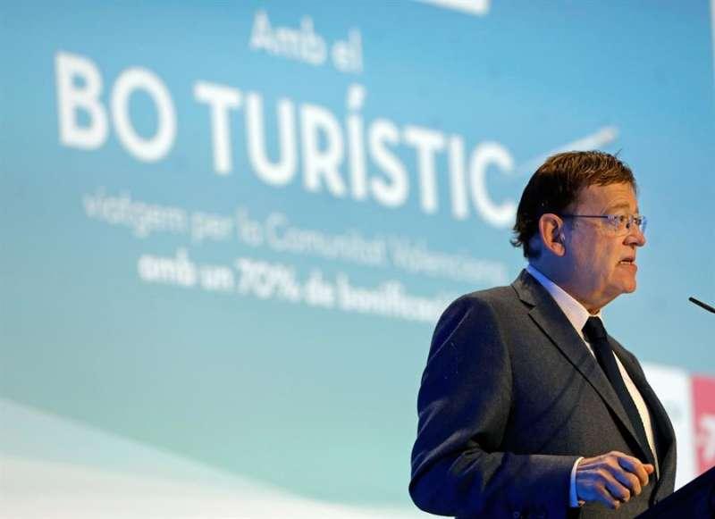 El president de la Generalitat, Ximo Puig, durante su intervención en la presentación del programa