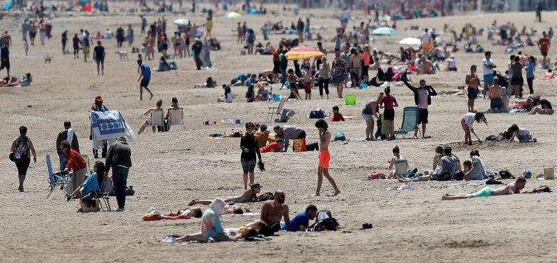 Una playa valenciana. EFE