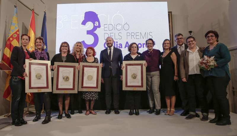 Foto de familia de los premios. EPDA