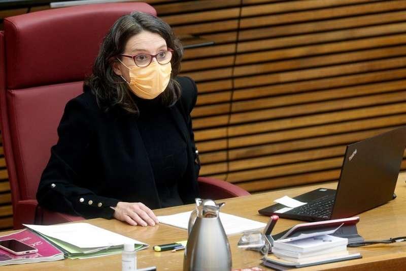 La vicepresidenta del Consell y consellera de Igualdad y Políticas Inclusivas, Mónica Oltra, comparece en Les Corts.EFE