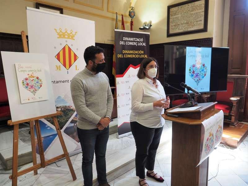 Moreno y Quesada, durante la presentación de la campaña a los medios de comunicación. / PACO QUILES