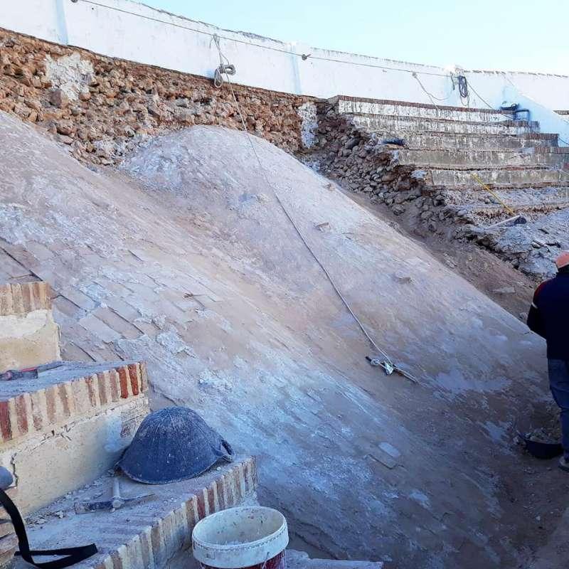 Detalle de las obras que se han iniciado en el recinto. / EPDA
