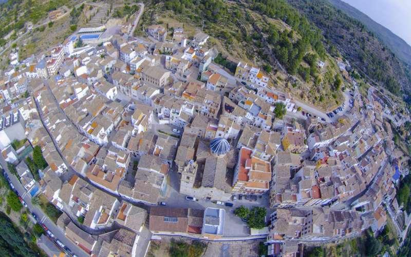 Vista aérea de Gaibiel