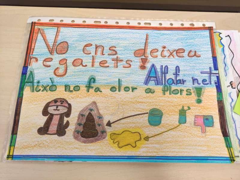Uno de los dibujos del concurso escolar sobre la limpieza de la vía pública. EPDA