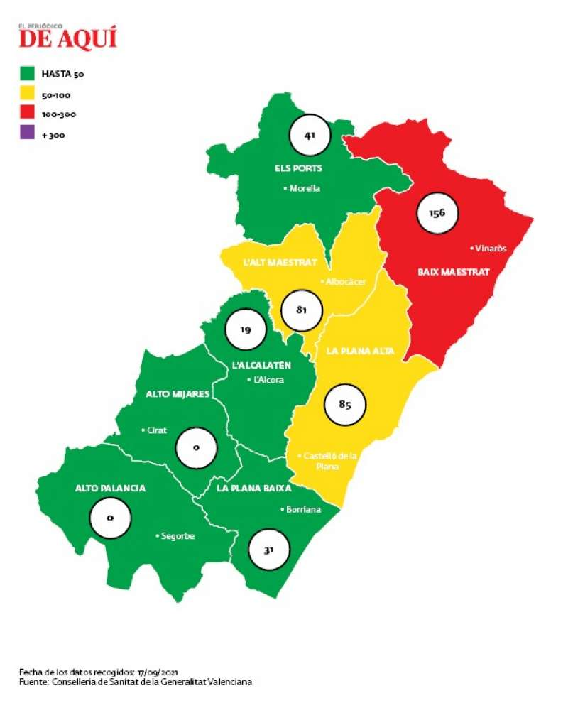 Mapa de incidencia/EDPA